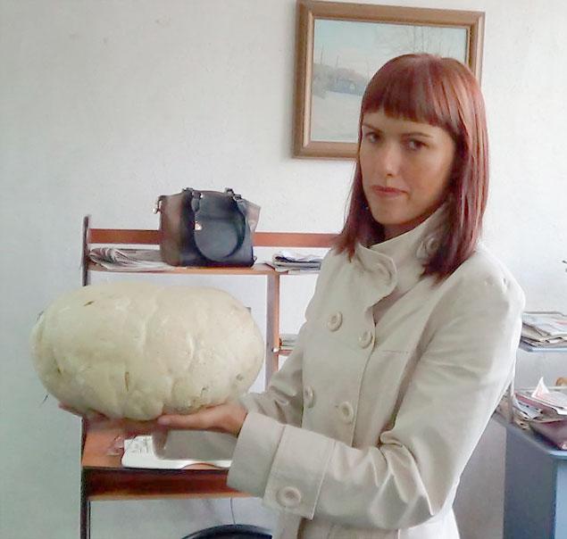 """Этот дождевик-гигант не поместится, наверное, ни в одно нормальное грибное лукошко. Фото газеты """"Новая Причулымка"""""""