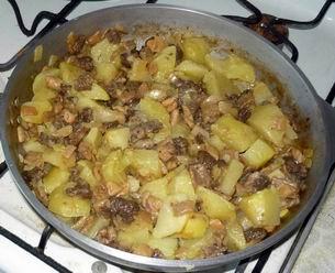Самое простое блюдо - жареные сморчки с картошкой