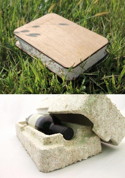 Опытная малогабаритная SIP-панель (на фото) из мицелия может иметь любые размеры, а упаковочный материал из него способен принять любую форму. (Здесь и ниже фото Ecovative.)