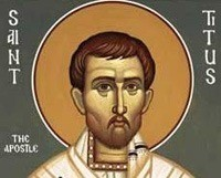 Святой Тит – апостола от семидесяти, ученика святого Павла — родился на острове Крит в семье язычников, позже обратился в христианство и, согласно преданию, до своей смерти в 107 году был епископом