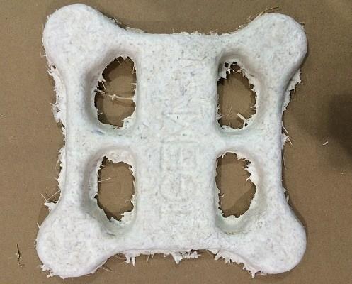 Корпус этого дрона от NASA напечатан на 3D-принтере из мицелия, то есть грибницы. Грибковое «шасси» имеет защитную оболочку из листов целлюлозы, выращенных с помощью бактерий в лаборатории.