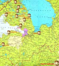 Карта грибника Ленинградской области. Сосново