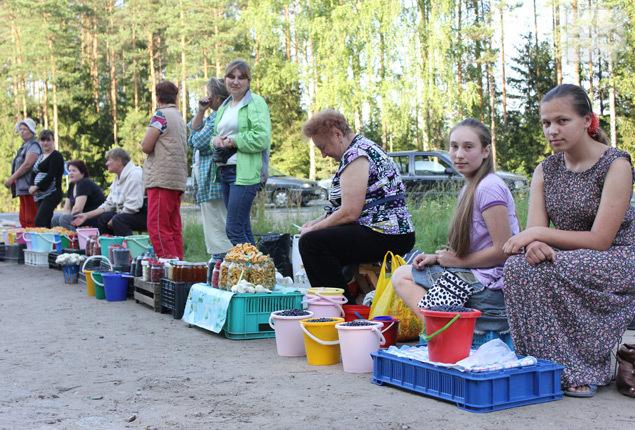Продавцы утверждают, что собирают ягоду руками, а не чесалкой-комбайном Фото: Елена ЗУЕВА